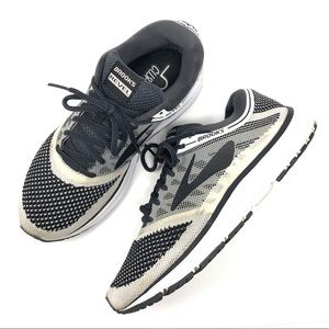 Brooks Revel Gray & White Athletic Shoes